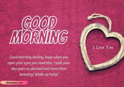 Good Morning I Love You images with messages
