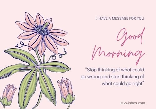 Good Morning flowers images with quotes in English