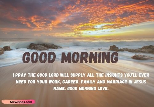 Best Good Morning prayer wishes messages in English.