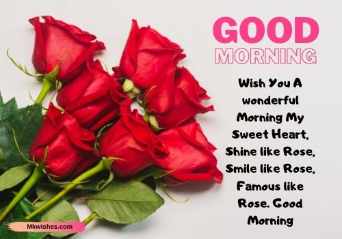 Good Morning Rose images with quotes
