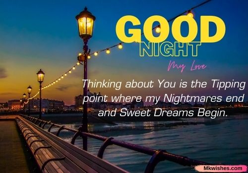 Good Night my love quotes images for her