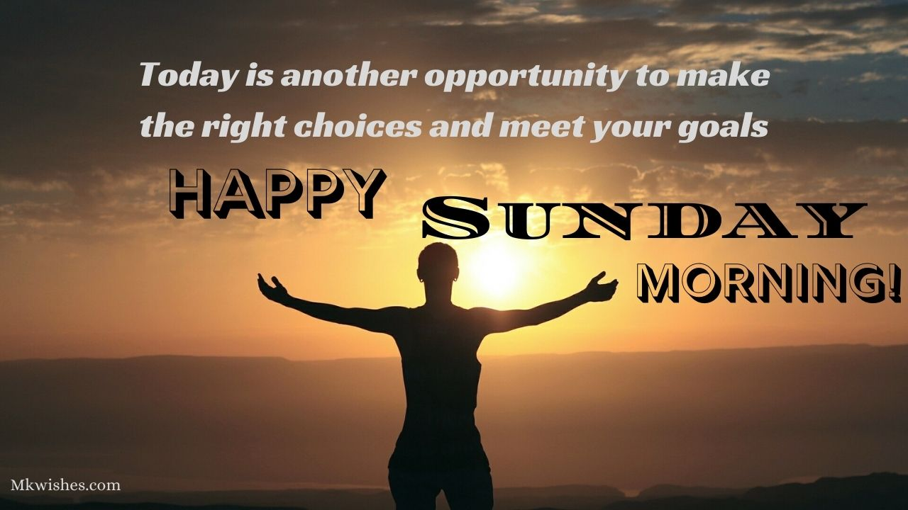 Good Morning Sunday Quotes with images in English for whats app & FB