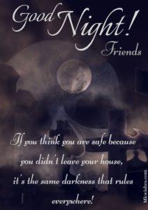Dark Night Halloween Good Night Pictures