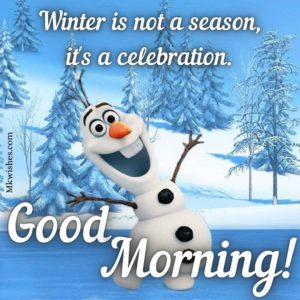 Olaf Good Morning Images