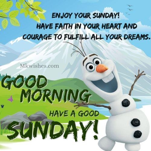 Sunday Good Morning Wishes Images