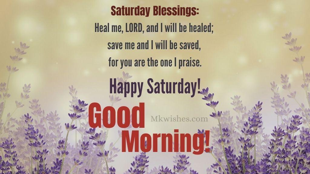 Happy Saturday Good Morning Blessings