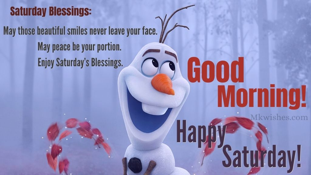 Good Morning Happy Saturday Blessings