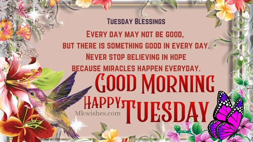 Tuesday Good Morning Blessings
