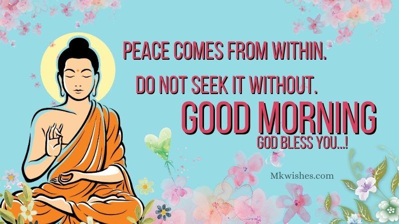 Good Morning Buddha Quotes Image