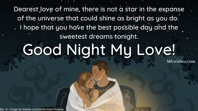 Good Night Messages for Her Images