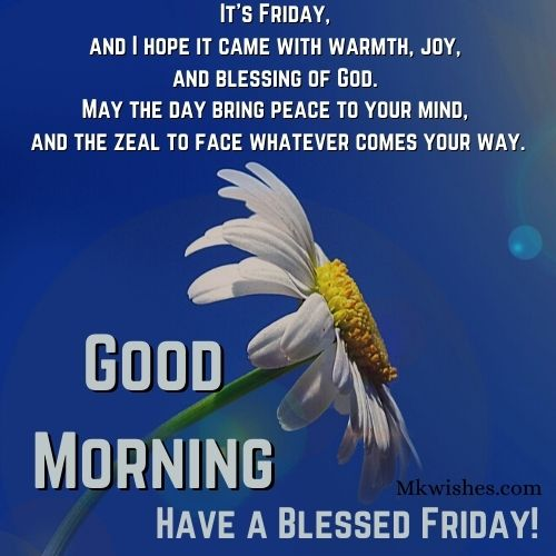 Good Morning Friday Blessings Images